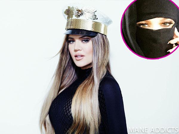 Pakai Cadar dan Hijab, Khloe Kardashian Kena Kritik!