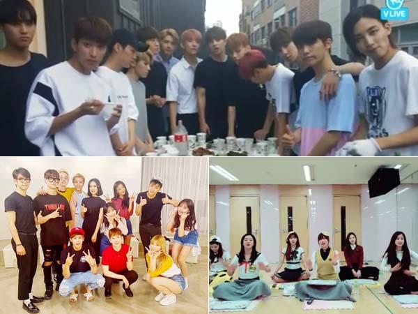 Seventeen dan Para Artis K-pop Ini Jadi Tiga Besar Siaran Terfavorit di Ultah 'V App'!