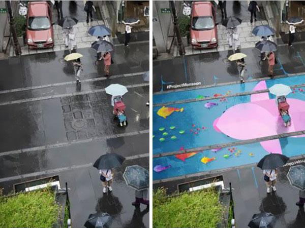 Bak Sulap, Jalanan di Seoul Ini Dapat Berubah Jadi Mural Indah Saat Kena Air Hujan!