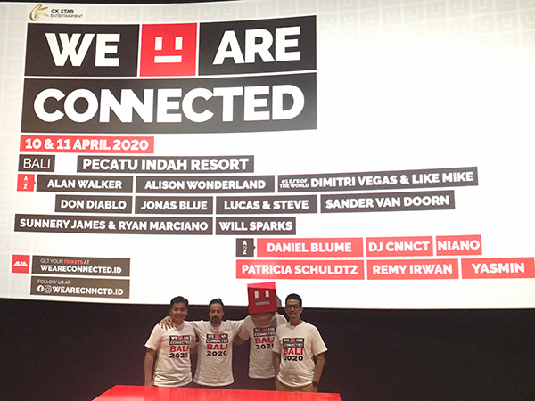 WE ARE CONNECTED BALI: Nikmati Festival EDM Interaktif Pertama di Indonesia