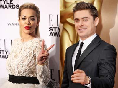 Menang Penghargaan, Rita Ora 'Bantu' Zac Efron Bertelanjang Dada di MTV Movie Awards 2014!