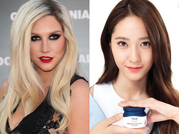 Reaksi Kesha Saat Demo Lagunya Digunakan Iklan Kosmetik Krystal f(x) di Korea