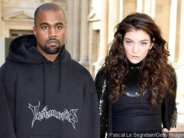 Eksis Bareng di Paris Fashion Week, Ada Apa Antara Lorde dan Kanye West?