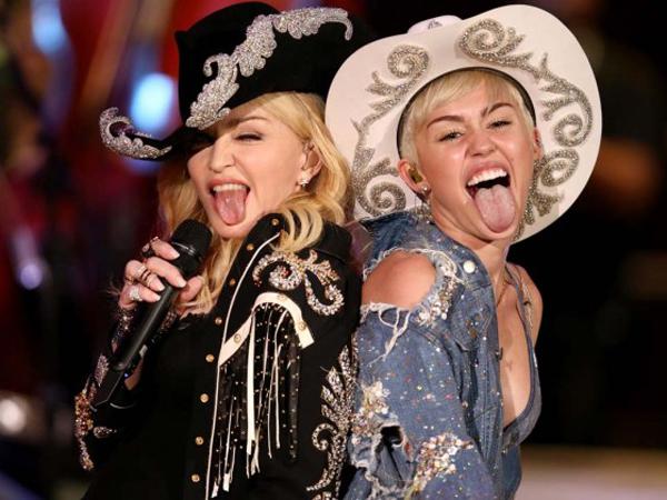 Wow, Miley Cyrus Ciptakan Satu Lagu di Album Terbaru Madonna!