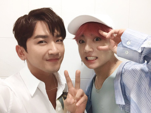 Serunya Momen Reuni 2 Idola K-Pop Beda Generasi, Minwoo Shinhwa dan Jungkook BTS