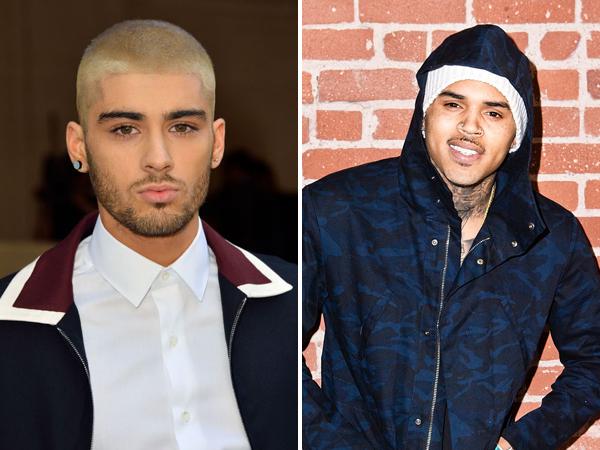 Satu Label, Chris Brown Ajak Zayn Malik Rekaman Lagu Kolaborasi