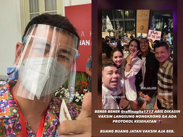 Raffi Ahmad Kena Protes, Habis Vaksin Justru Kumpul Tanpa Masker