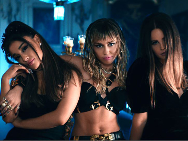 Ariana Grande, Miley Cyrus, Lana Del Ray Rilis Kolaborasi Soundtrack Film 'Charlies's Angels 2019'