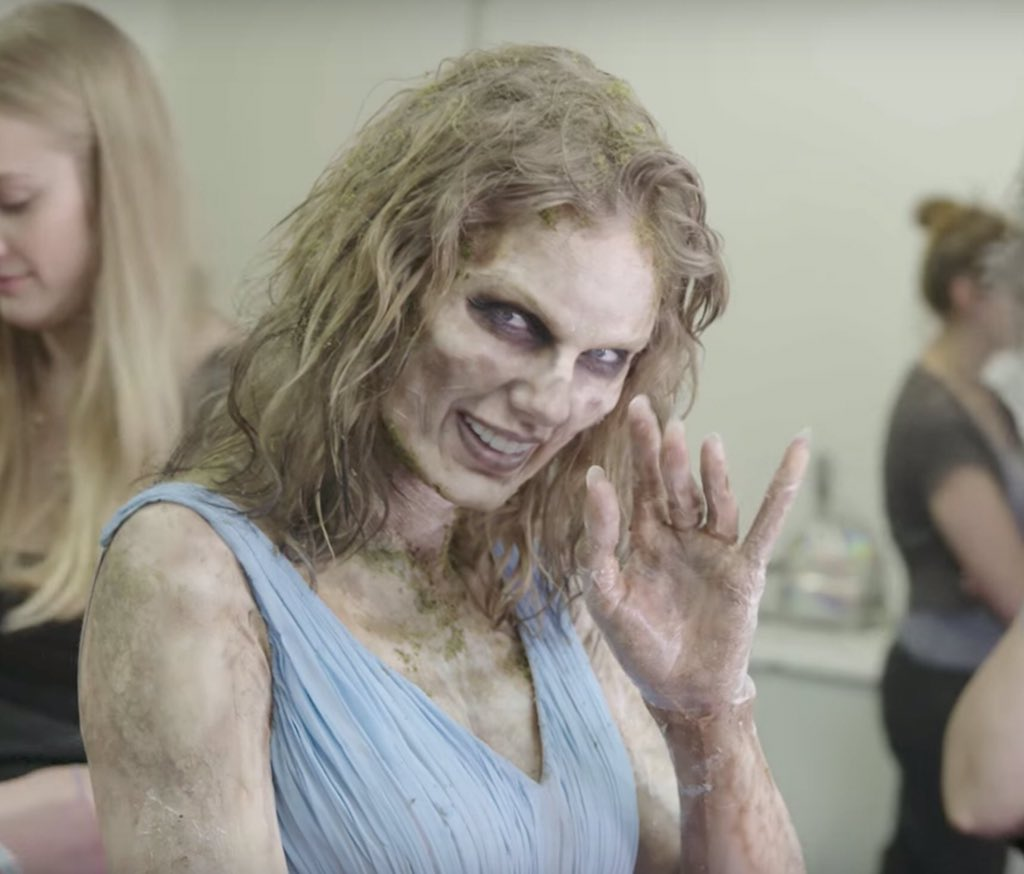 Ini Dia Proses Transformasi Taylor Swift Jadi Zombie di 'Look What You Made Me Do'