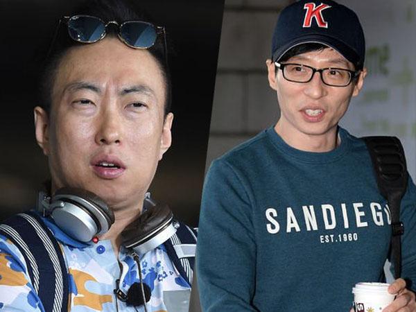 Park Myung Soo dan Yoo Jae Suk Terlihat Tampil Unik Saat Syuting di Jalanan Seoul!