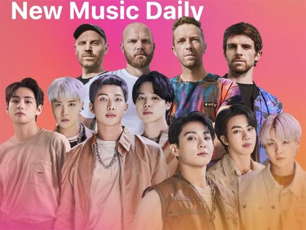 Coldplay dan BTS Rilis Single Kolaborasi 'My Universe' yang Langsung Trending