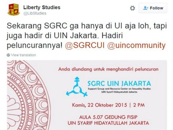 Pendiri Akui Seorang Gay, Jasa Konseling LGBT Rambah UI dan UIN Jakarta