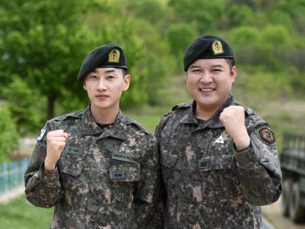 Hibur Rekan Sesama Tentara, Eunhyuk dan Shindong Super Junior Gelar Konser Mini