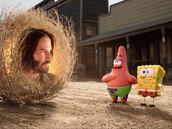 Keanu Reeves Jadi Cameo di Film Terbaru Spongebob!