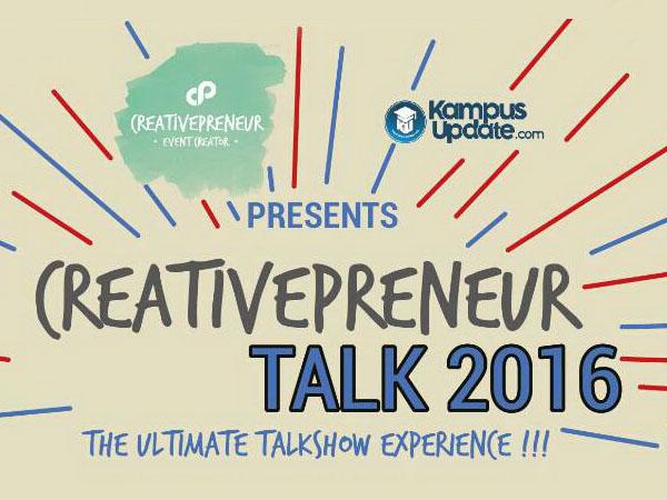 Mau Tau Tips Sukses Memulai Bisnis Untuk Pemula? Datang ke 'Creativepreneur Talk 2016' Yuk!