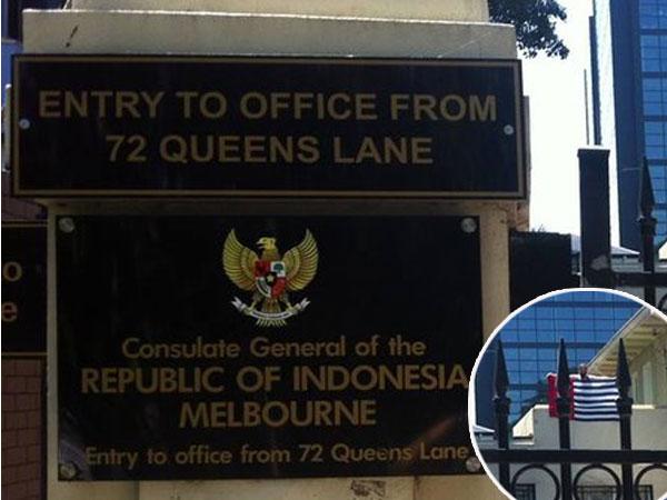 Heboh Konjen RI di Australia 'Diterobos' Saat Solat Jumat, 2 Orang Kibarkan Bendera OPM