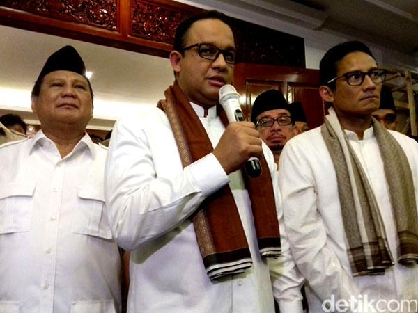 Prabowo Siap Dukung Kampanye Akbar Demi Menangkan Anies-Sandi di Pilgub DKI Jakarta