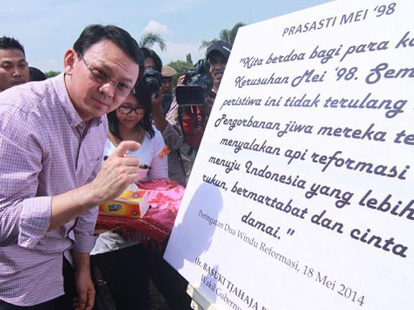 Gubernur DKI Jakarta akan Resmikan Prasasti Tragedi Mei 1998