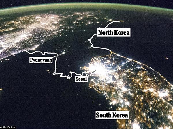 Video NASA Perlihatkan Perbedaan Kontras, Korea Utara Sama Sekali Tak Terlihat Dari Langit
