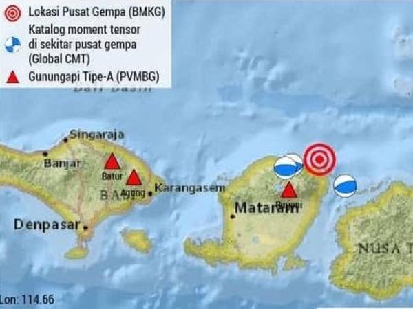 Lombok Alami Gempa Susulan yang Lebih Besar dari Gempa Utama, 7.0 SR