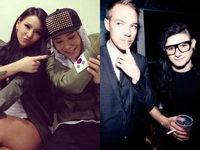 G-Dragon dan CL Dirumorkan akan Kolaborasi Bersama Skrillex dan Diplo!