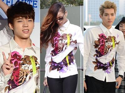 Kemeja Floral Kembar Kris, Woohyun, Rihanna: Siapa Termodis?