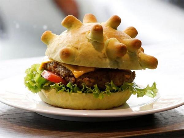 Penampakan Burger Unik Berbentuk Virus Corona