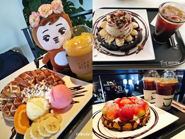 Ngemil Waffle Hits di Kamong Cafe Bisa Mendadak Ketemu Kai EXO