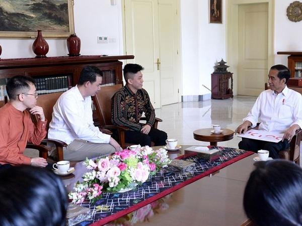 Pertemuan Rich Brian dan Presiden Jokowi di Istana Bogor, Bahas Musik hingga Domba