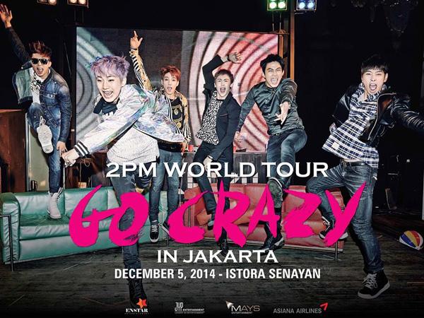 Ini Dia Harga Tiket Konser '2PM Go Crazy World Tour' di Jakarta
