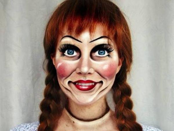 Hiii... Wanita Ini Sukses 'Berubah' Jadi Sosok Annabelle di Dunia Nyata
