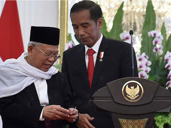Tak Disangka Meski Ada Dalam Nama Kandidat, Jokowi Resmi Pilih Maruf Amin Jadi Cawapres