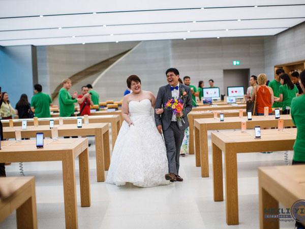 Saat Apple Store di Singapura Jadi Lokasi Pemotretan Pernikahan
