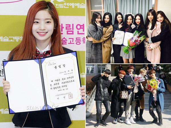 Dahyun TWICE dan Idola K-Pop Lainnya Hadiri Acara Kelulusan Hanlim Multi Arts School