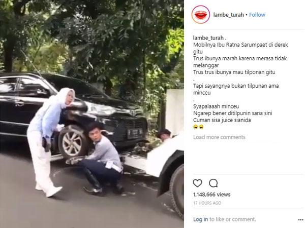 Ramai Mobil Aktivis Ratna Sarumpaet yang Diderek dan Dikembalikan Dishub Setelah Menelepon Gubernur Anies