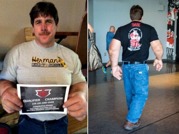 Pria Ini Punya Tangan dan Otot Super Besar Seperti Popeye