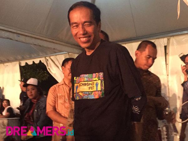 Presiden Jokowi Buat Heboh Synchronize Festival 2017