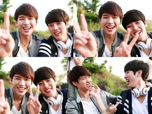 Woohyun & Sungyeol Infinite Asyik Bercanda di Balik Layar 'High School'