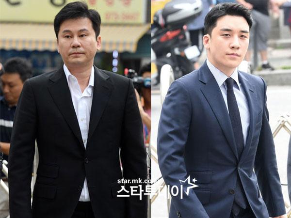 Polisi Berniat Akhiri Proses Penyelidikan Terhadap Yang Hyun Suk dan Seungri