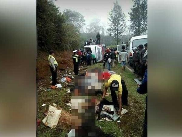 Nama 27 Korban Tewas Kecelakaan Bus Maut di Tanjakan Emen Subang