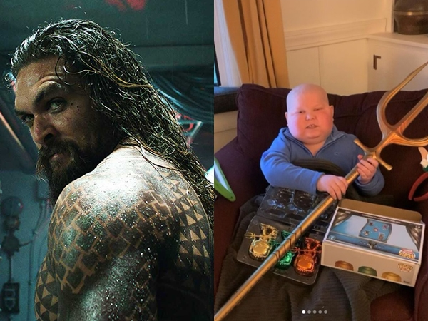 Jason Momoa 'Aquaman' Bagikan Momen Haru Dengan Anak Pengidap Kanker
