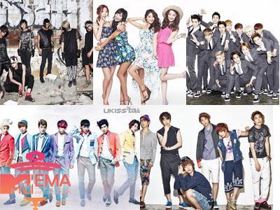 Lima Grup Idola K-Pop Masuk dalam Nominasi MTV Europe Music Awards 2013