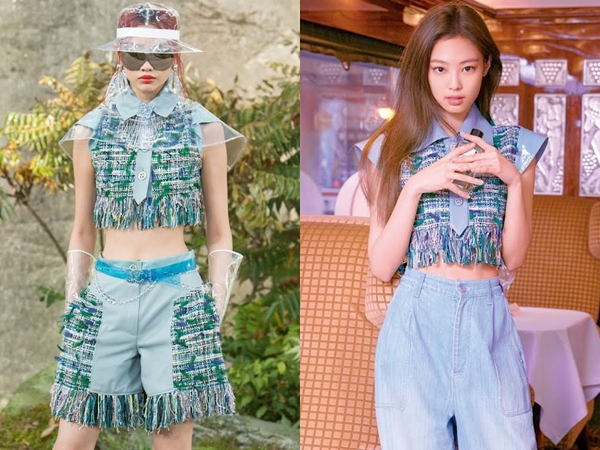 Jennie BLACKPINK dan Jung Ho Yeon Pakai Atasan Kembar, Who Wore It Better?