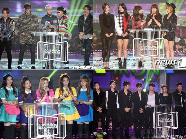 Didominasi Big Bang, Ini Dia Daftar Peraih Trofi Penghargaan di Melon Music Awards 2015