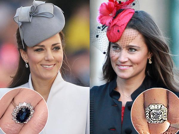 Mewah dan Berkilau, Simak Perbandingan Cincin Tunangan Kate dan Pippa Middleton