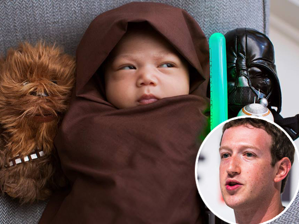 Ikut Demam Star Wars, Mark Zuckerberg Dandani Bayinya Ala Jedi