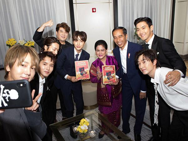 Viral Video Keseruan Super Junior dan Presiden Jokowi Kompak Goyang Dayung