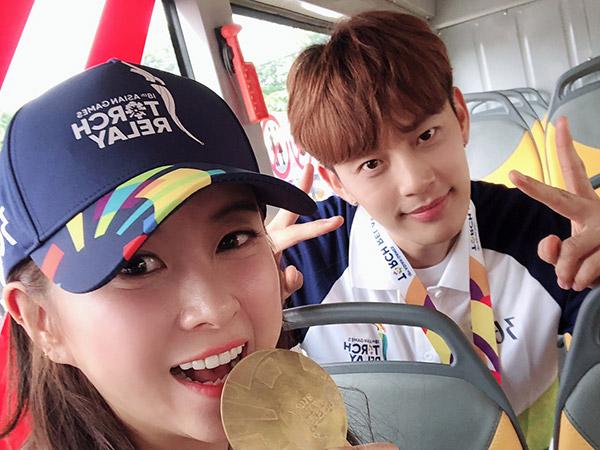 Solois Korea SE7EN dan Eun Ga Eun Jadi Pembawa Obor #AsianGames2018 di Jakarta