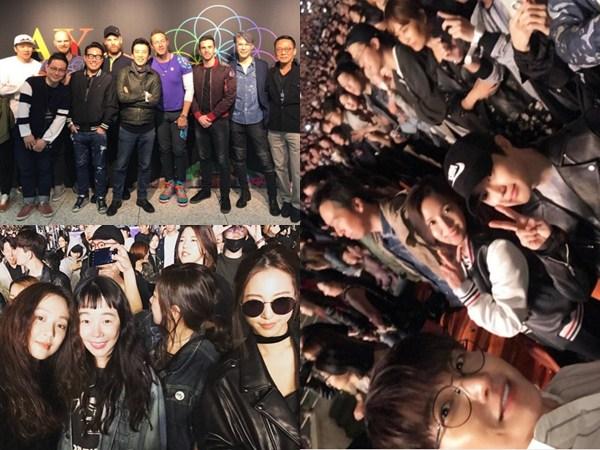 Heboh Jadi Fans Berat, Sederet Selebriti Korea Hadiri Konser Coldplay di Seoul!