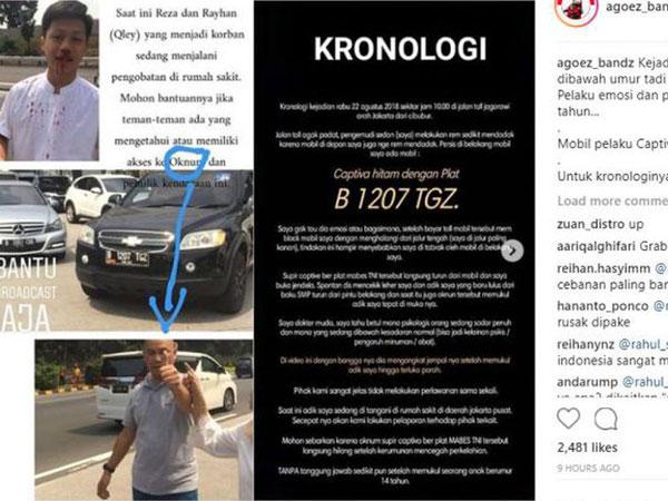 Viral! Percekcokan Di Tol yang Berbuah Aksi Baku Hantam oleh Oknum Mobil Bersticker TNI